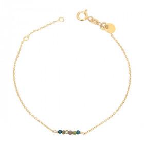 Bracelet chaine mini pierres