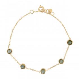 Bracelet chaine labradorites