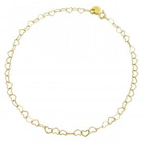 Bracelet chaine cœurs