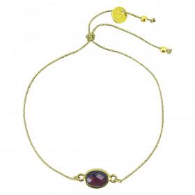 Bracelet fil pierre sertie