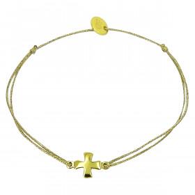 Bracelet croix carrée