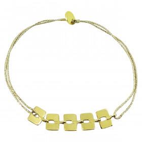 Bracelet maillons carrés