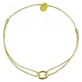 Bracelet petit anneau ovale