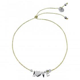 Bracelet sur fil lurex LOVE...