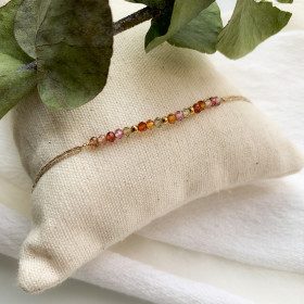 bracelet fil  barette spinelle