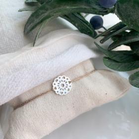 bracelet fleur argent sur...