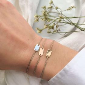 Bracelet silver chip