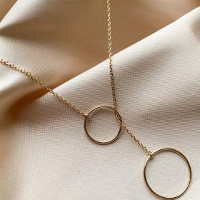 Collier deux anneaux en...