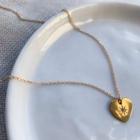 Necklace golden heart