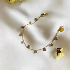 Bracelet chaine et labradorite