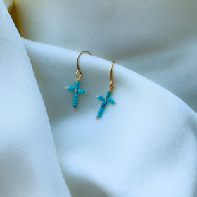 Earrings Eden turquoise