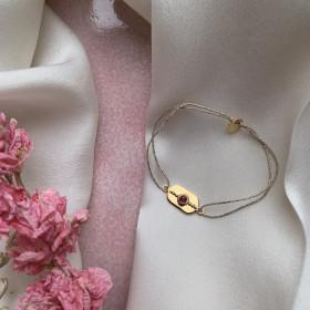 Bracelet médaille tourmaline